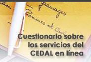 banner frontpage cedal cuestionario de evaluación de servicios